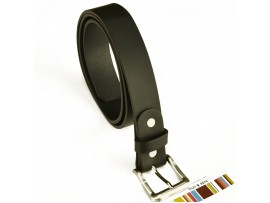 Full Grain leather Belt Width 30 mm Black with Nickle silver buckle Style 44008
