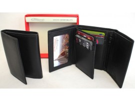 RFID Lined Quality Full Grain Cow Hide Leather Wallet. Style 11005. Black or Brown.