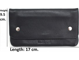 Tobacco Pouch. Full Grain Cow Hide Leather. Style No: 11013. All New Larger Size.