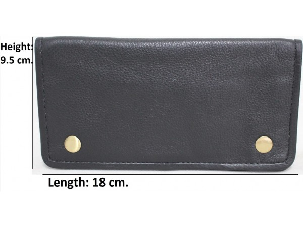 Quality Full Grain Cow Hide Leather Tobacco Pouch. Colour: Black. Style No:11033. All New Larger Size.