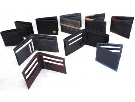 Assorted Quality Full Grain Victorian Leather Wallets. Style No: 11035.