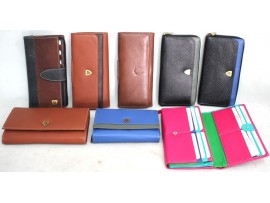 Assorted Quality Full Grain Victorian Leather Purses. Style No: 21005.
