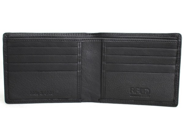 RFID Security Lined Leather Wallet Quality Full Grain Cow Hide Leather. 11051.