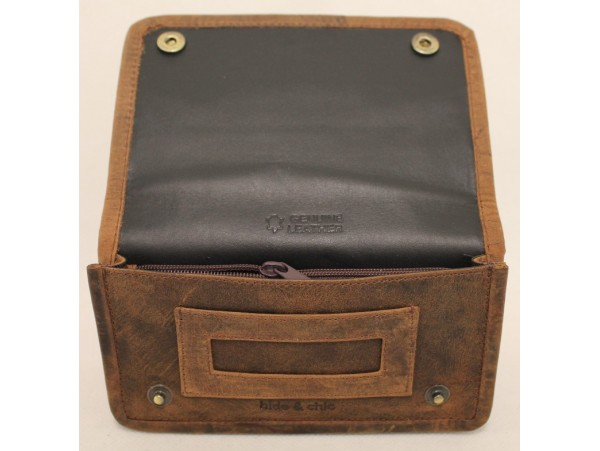 Tobacco Full Grain Cow Hide Hunter Leather  Pouch. 12033.