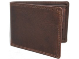 Quality Full Grain Cow Hide Oil Pull Up Leather RFID Wallet. Style No: 12061.