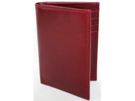 RFID Security Lined Leather Wallet. Quality Full Grain Cow Hide Leather. 13008.