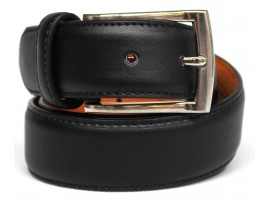 PU Split Leather Belt. Width: 35mm. Colour: Black. Style No: 41003.