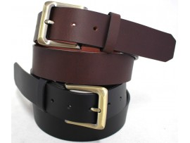 Full Grain Genuine Leather Belt. Width 38 mm. Style 41004.Black & Brown