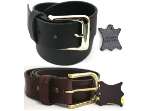 Quality Full Grain Leather Belt. Brown. Width: 38 mm. Style No:  42005