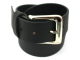 Quality Full Grain Leather Belt. Black. Width: 38mm.  Style No. 41005.