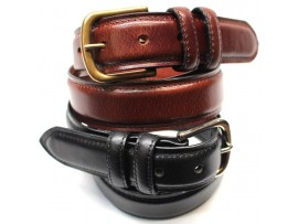 Quality Full Grain Leather Belt. Black or Brown. Width: 35mm. Style No: 41019.