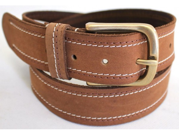 New Quality Genuine Full Grain Leather Classic Mens Jeans Belt Style No: 43005