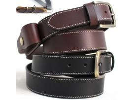 41014 & 42014 Knife Belt. Quality Full Grain One Piece Genuine Leather Knife Belt. BLK or BRN.