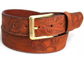 Quality Full Grain One Piece Leather Ranger Belt. Style No: 41022.