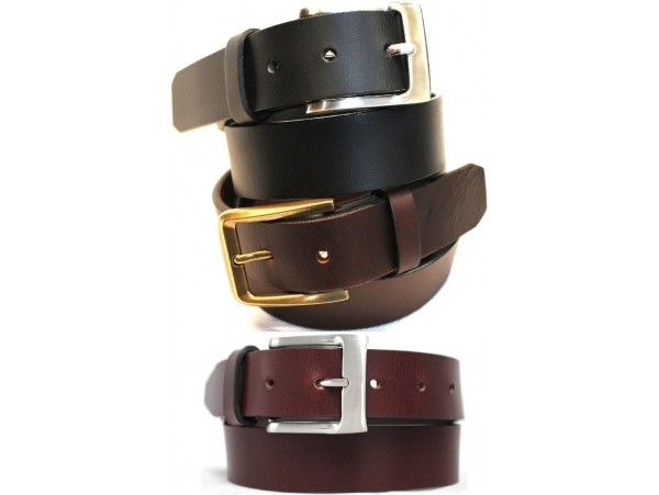 Full Grain Leather Belt. Black, Brown & Burgundy Brown. Width: 35mm. Style No: 41012 & 42012 & 43012.