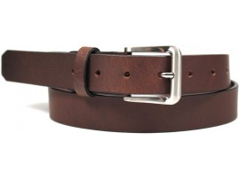 FULL GRAIN GENUINE LEATHER BELT. WIDTH: 30 MM. STYLE NO: 45008. BROWN.