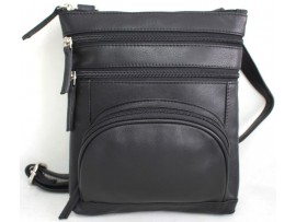Quality Full Grain Leather Shoulder Bag with Adjustable Strap. Style: 61020.