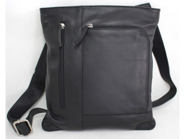 Quality Full Grain Leather Shoulder Bag with Adjustable Strap. Style: 61024.