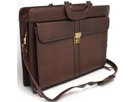 Satchel with Shoulder Strap and Lock and Key. Fits 15 inch Laptop.