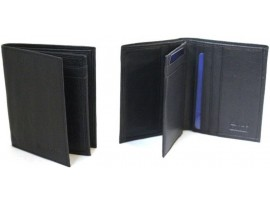 RFID Lined  Full Grain Cow Hide Leather Card Holder. Style: 11016 Black & brown