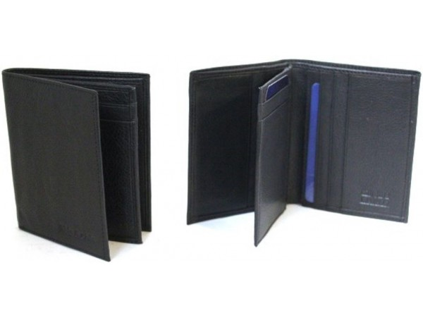 Quality Full Grain Cow Hide Leather Card Holder. Style: 11016 Black & brown