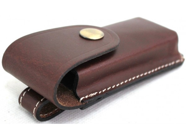 Leather Knife Pouch with Belt Loop on reverse. Brown & black . Style: 31004.