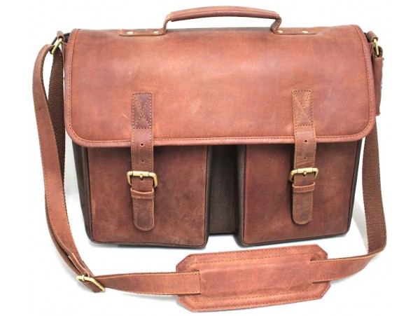 Quality Full Grain Leather/Polyester Messenger Bag. Adjustable Shoulder Strap. Padded Laptop Protection. Coming Soon.