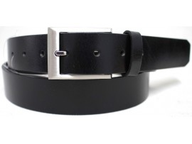 Genuine Full Grain  Leather Belt. Style: 41016. Black.