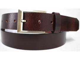 Genuine Full Grain  Leather Belt. Style: 42016. Brown.