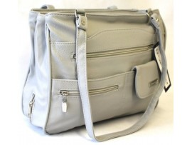 Multi-compartment Handbag. Colour Grey. Style:4291