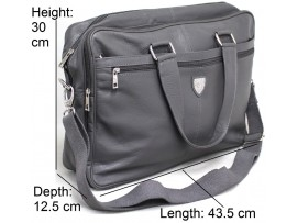 Quality Full Grain Cow Hide Leather Shoulder Bag with Adjustable Strap. Style No: 81012 Black, Grey or Brown.