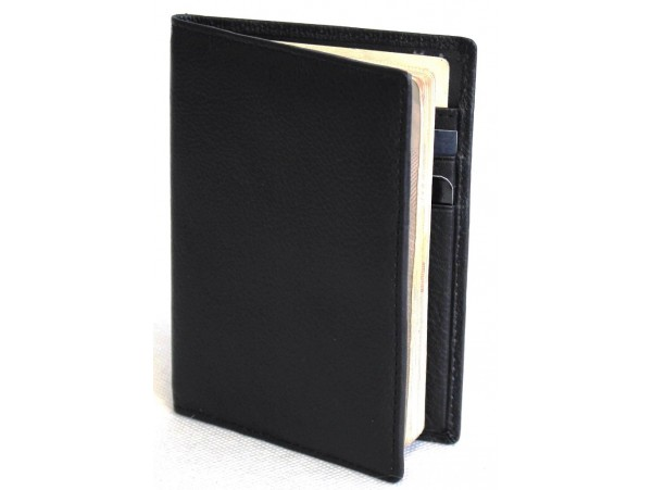 RFID Security Lined Leather Passport Holder. Style: 11017.