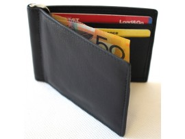 RFID Lined Leather Money Clip. Style No: 11030