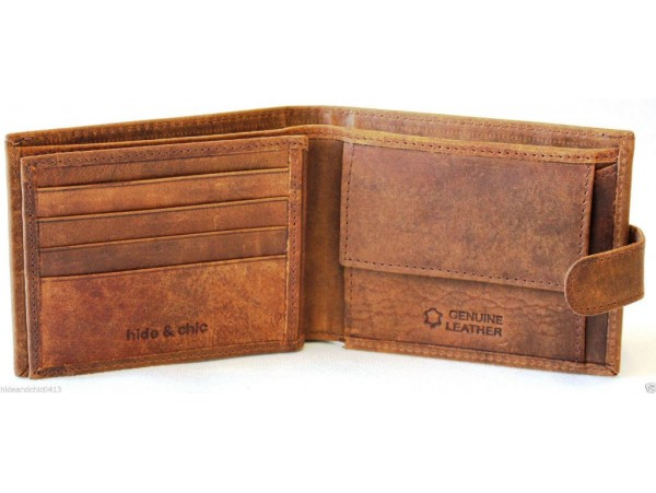 RFID Lined Hunter Leather Wallet. 12047.