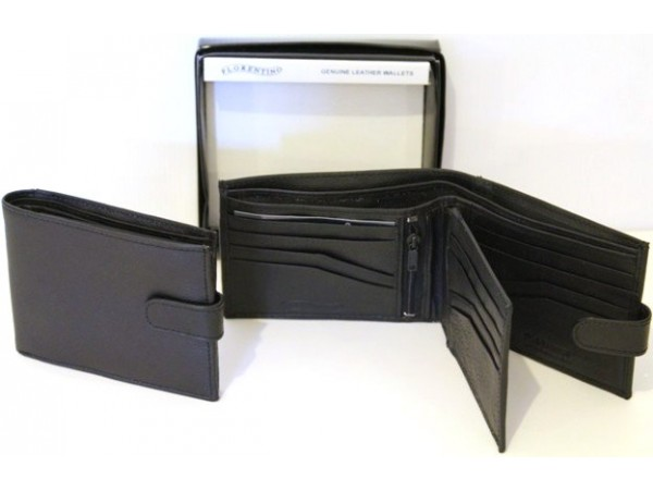 RFID LINED Hide Leather Wallet. Style 11000 Black 12000 Brown