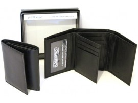 RFID lined Quality Full Grain Cow Hide Leather Wallet. Style 11005
