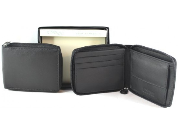 RFID Lined  Cow Hide Leather Wallet. Style 11011