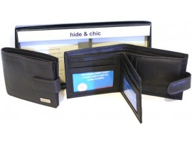RFID Quality Full Grain Cow Hide Leather Wallet. Style 11021