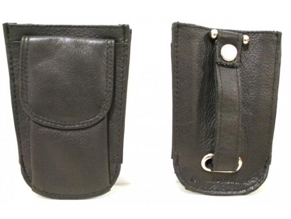 Quality Full Grain Cow Hide Leather Coin Purse/Key Ring:11042