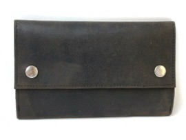 Tobacco Full Grain Hunter Nu-buck Leather  Pouch. 12048