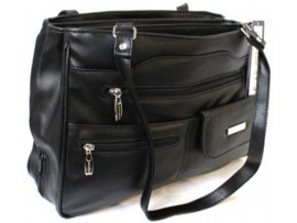 Multi-compartment Handbag. Colour Black. Style:4291