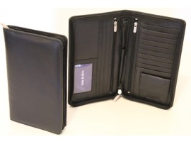 RFID Quality Full Grain Cow Hide Leather Passport Wallet. 11010