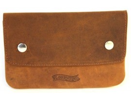 Tobacco Full Grain Hunter Nu-buck Leather  Pouch. 12013