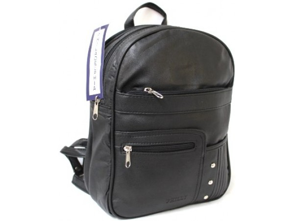 Quality Multi-Compartment Backpack. Black. Style No: 3674